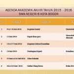 Agenda Akademik Akhir Tahun 2015 - 2016